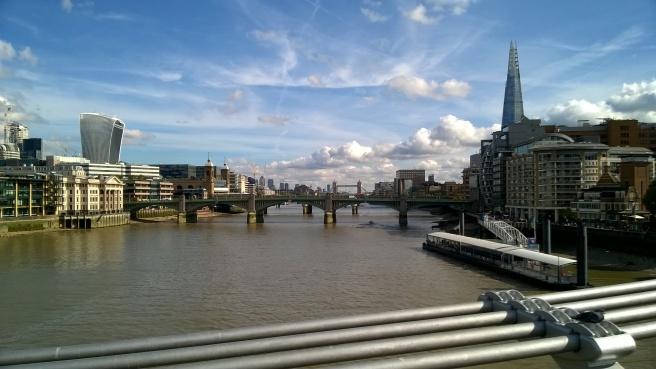 looking west from millenium bridge